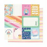 American Crafts - She's Magic -  A Simple Hello 12 x 12 Paper